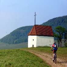 Mountainbiken in der Nähe der Bollenbergkapelle